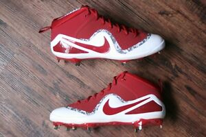 24518eb0dbb Nike Force Trout 4 Mens Size 13 Maroon White Baseball Metal Cleats ...