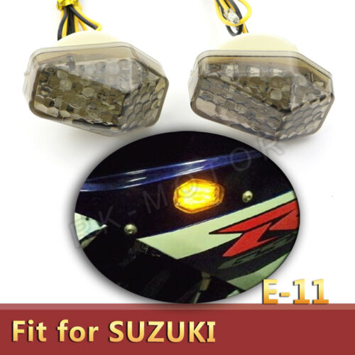 Smoke Flush Mount Turn Signals For Suzuki GSXR1000 GSX-R 1000 GSX-R600 2001-2015