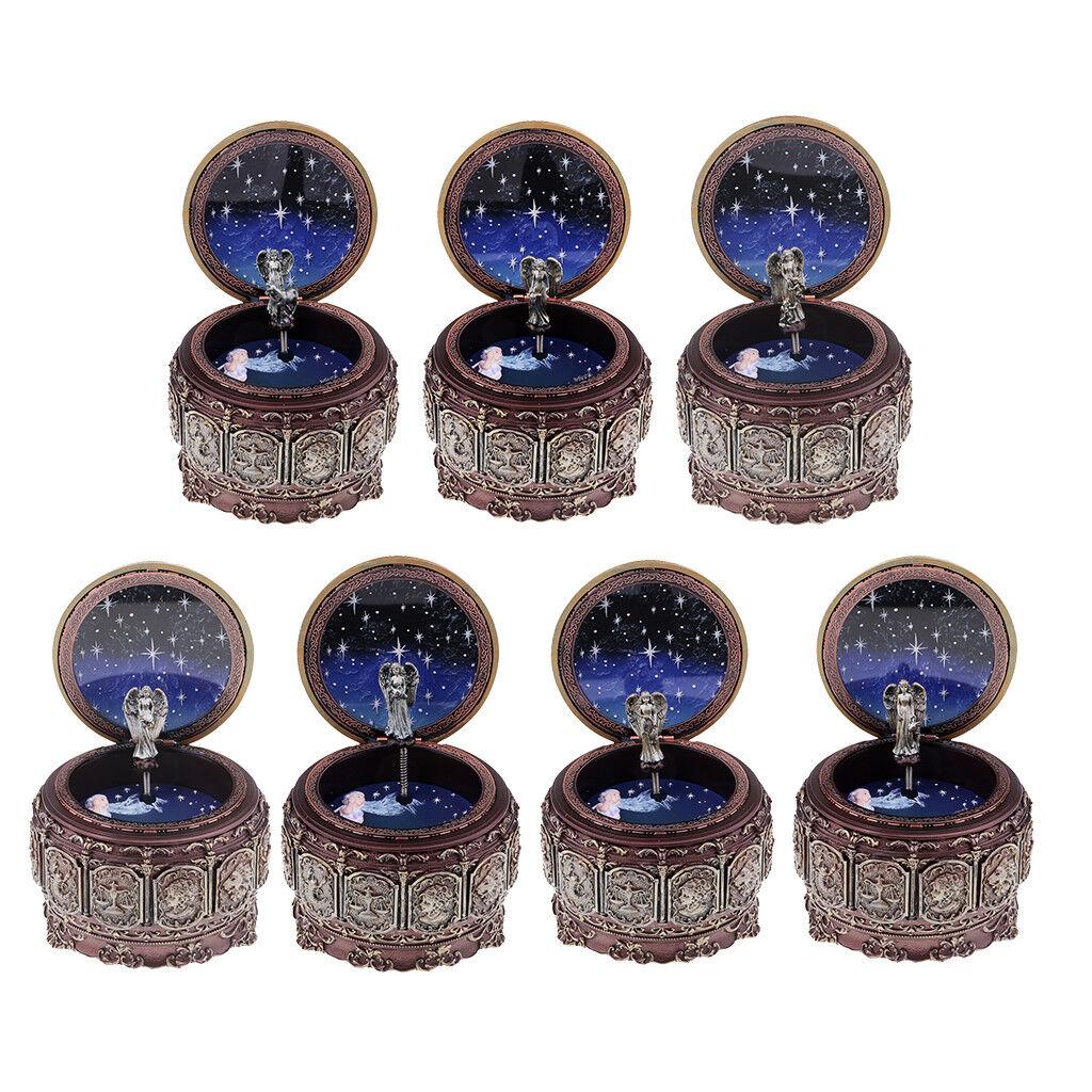 Vintage Music Box 12 Constellation Cancer Sign LED Lights Twinkling for Gift