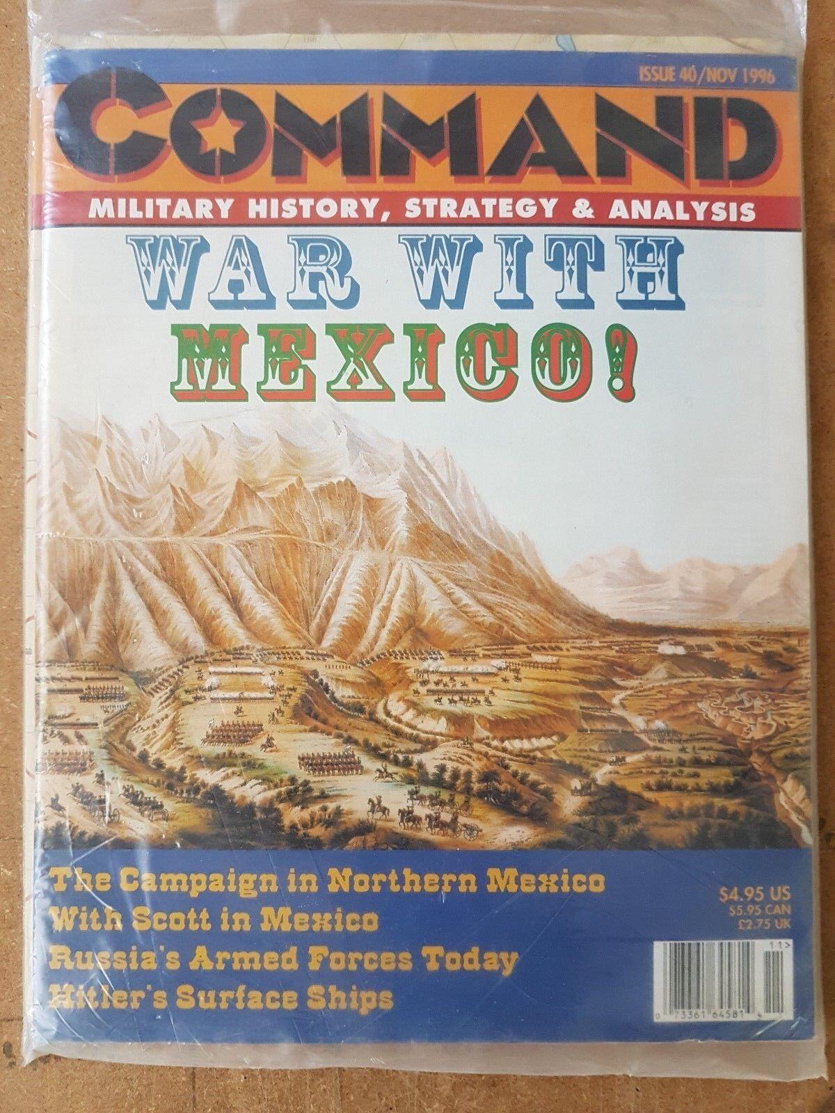 Das thema 40 nov 1996 - krieg gegen mexiko - spiel unpunched