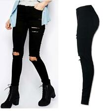 2aa4ede49dc9 item 5 Sexy Women Girl Pants Ripped Knee Cut Skinny Slim High Waist Long  Jeans Trousers -Sexy Women Girl Pants Ripped Knee Cut Skinny Slim High  Waist Long ...