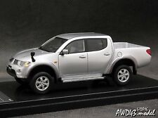 Mitsubishi Triton 2010 silver  4x4 4WD 1-43 WIT's RARE!
