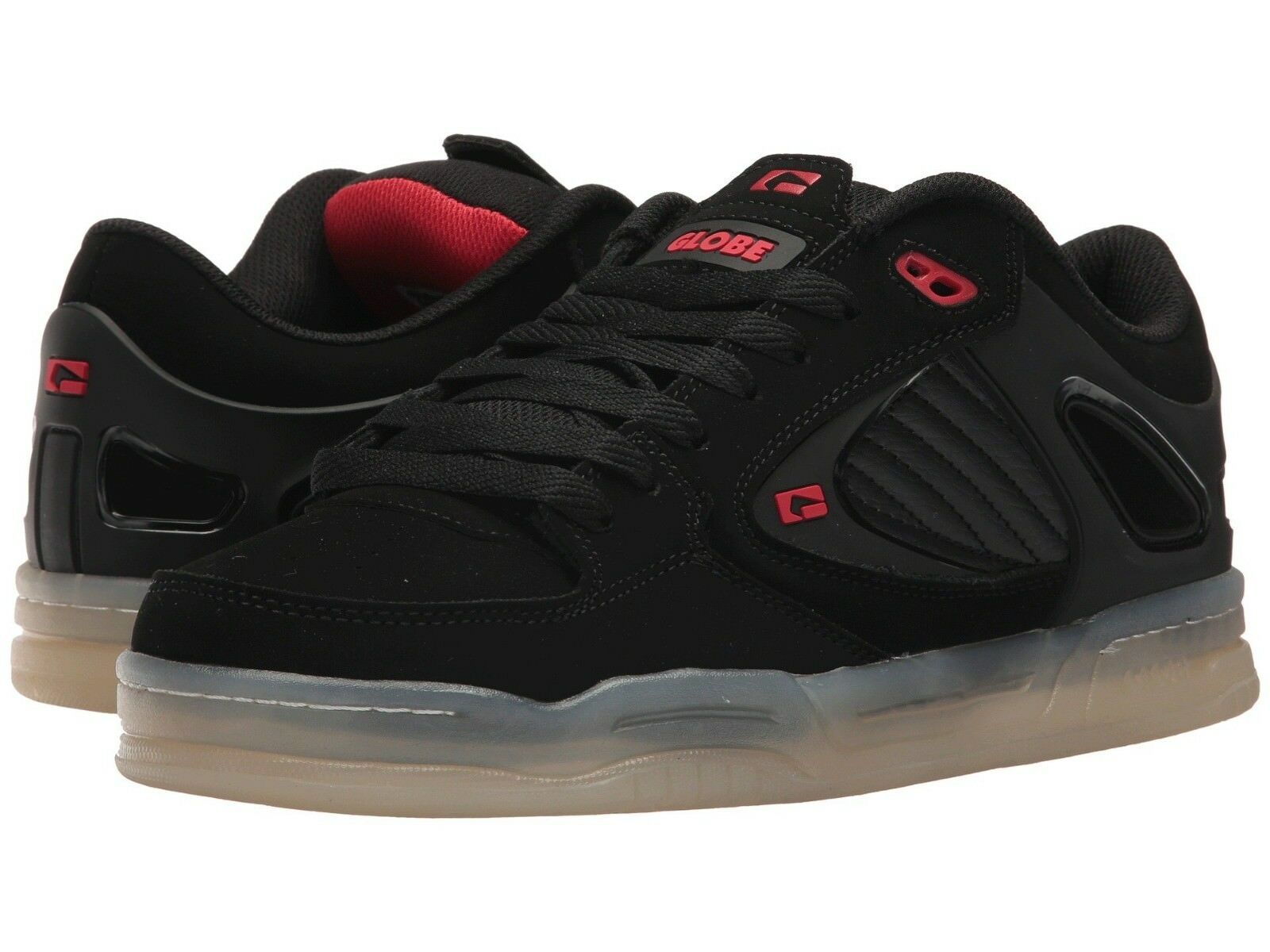 Homme GLOBE AGENT SKATEBOARDING Chaussures NIB Noir Blanc RED