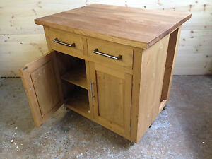 HANDMADE-PINE-KITCHEN-ISLAND-WITH-SOLID-OAK-TOP-38MM
