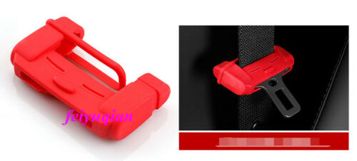 4x Red Door Seat Safety Belt Buckle Cap Cover Trim For Mazda CX-5 CX5 2017-2019