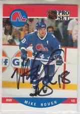 Autographed 90/91 Pro Set Mike Hough(series 2) - Nordiques