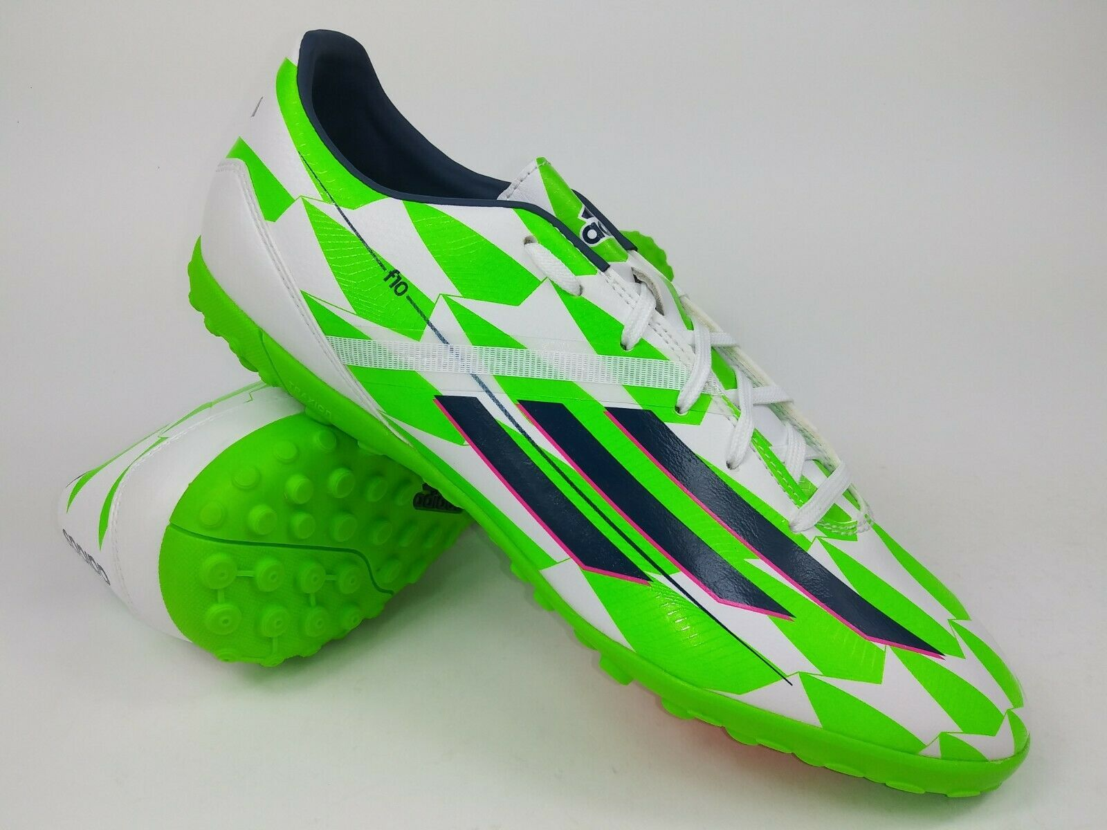 White Green Soccer Shoes Cleats Size