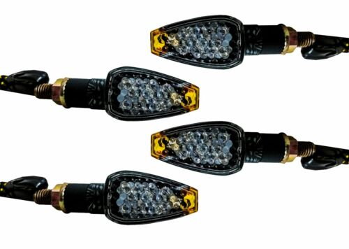 4x Carbon Turn Signal LED Dual Sport Motorcycle dirt bike light blinker mx mini