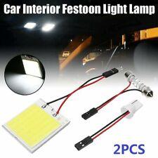 2pcs Car Interior Panel Lights 48 Smd Cob Led T10 4w 12v White Light Dome Lamp Fits 2002 Mitsubishi Eclipse