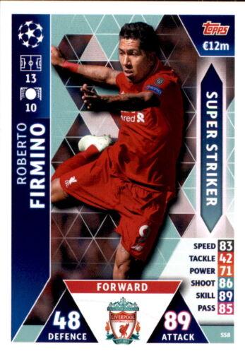 Ligue des Champions 18//19 Carte ss8-Roberto Firmino-Super Striker