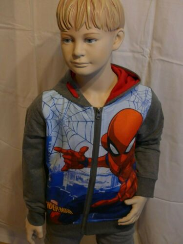 Jacke Anthrazit Kapuzenpullover Disney Marvel Spiderman Sweatshirt