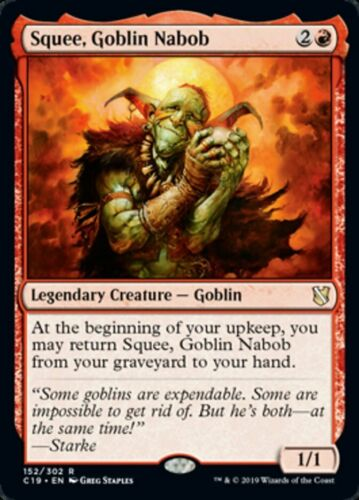 English Goblin Nabob MTG Commander 2019 R M//NM x1 Squee