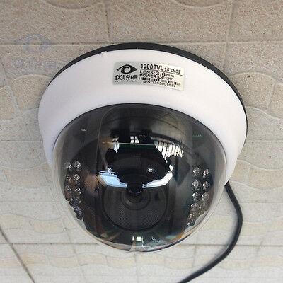 1000TVL 1/4 CMOS Color IR CUT 3.6mm Lens Dome CCTV Security Camera Video W41-10