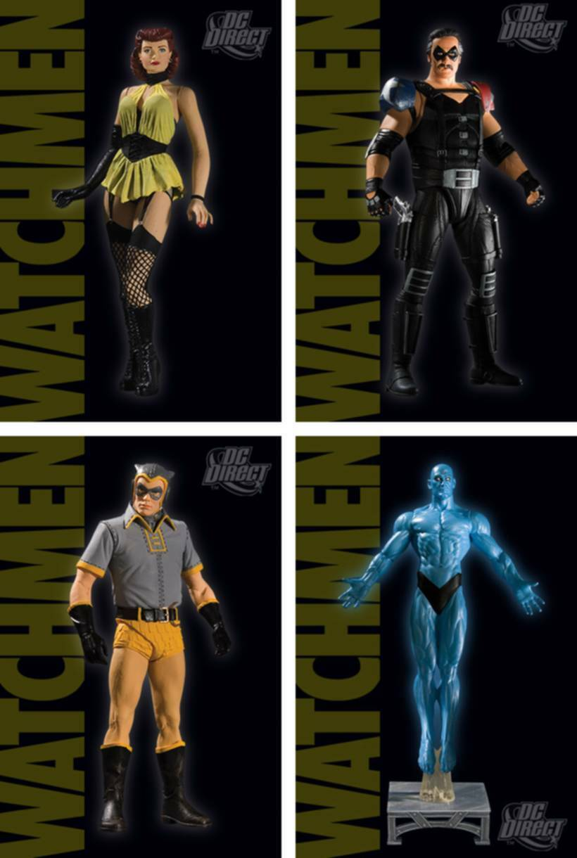 Watchmen Series 2 Action Figure Set of 4 Comedian Silk Spectre New DC Amricons