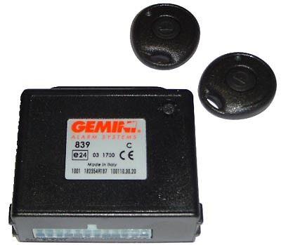 2 REMOTES GEMINI 839 CAR REMOTE CENTRAL LOCKING  BOX