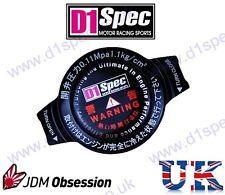 D1 SPEC RACING RADIATOR CAP 1.1kg/cm BLACK BIG HEAD JDM DRIFT nitroXukimport