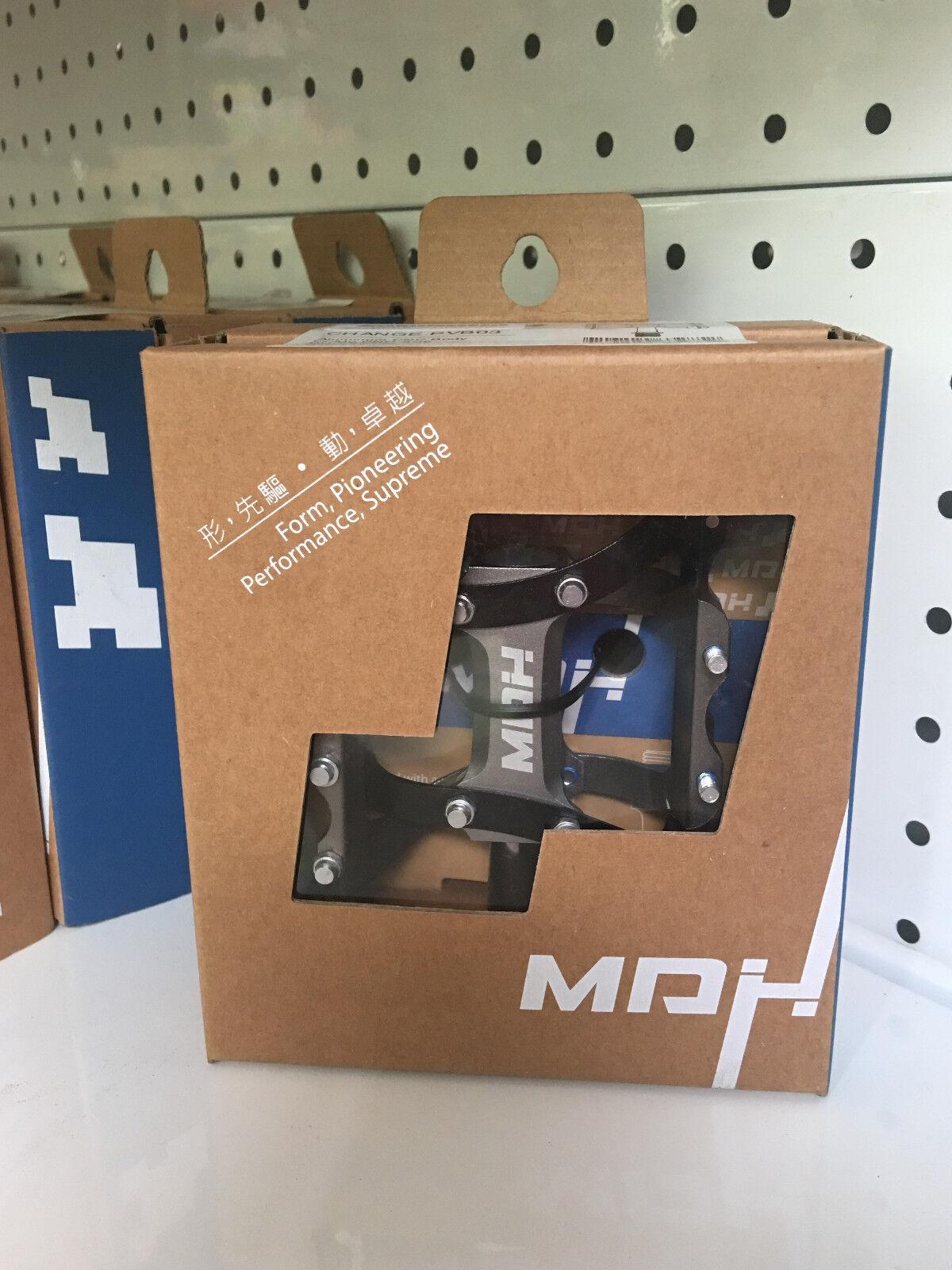 MDH cambio PVB03 pequeña área Pedal De Bicicleta De Aluminio CNC Titanio (Negro)
