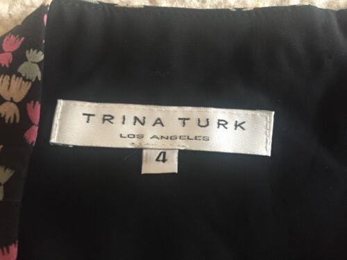 Gonna Turk arricciate a Floral 248 balze spandex Orig 4 Sz Trina Seta n1IqZZ