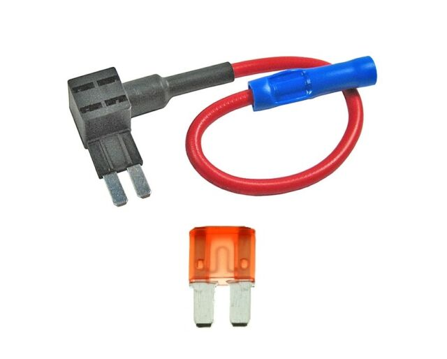 Micro2 Blade Fuse Holder Fuse with 10A Tap 12V Car Add-a-circuit Fuse TAP Adapter with Micro2 Blade Fuse (2 sets) 20A Fuse