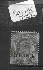 MALAYA STRAITS SETTLEMENTS (P0311B) KE  8C  SG 126S SPECIMEN  MOG