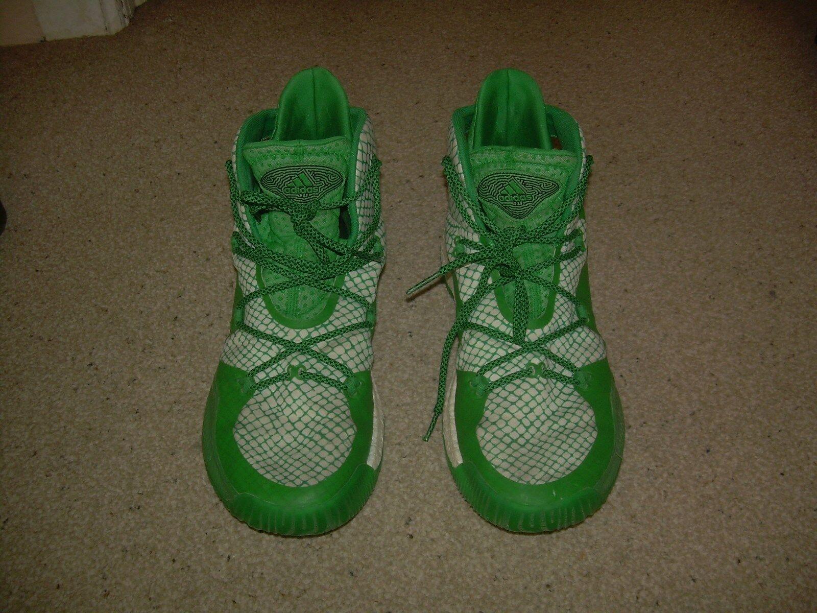 Adidas grün - weiße geofit verrückt nach basketball - euc schuhe, schuhe 12 mio euc - 74ea3c