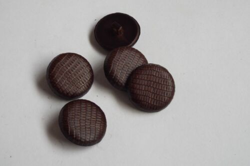 6pc 23mm dark brown faux tatou effet manteau cardigan enfants bouton 2638