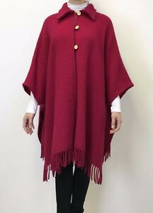 Pure-Wool-Cape-Wrap-Scarves-Ponchos-Coat-Shawls-Cloak-Cosy-Jacket