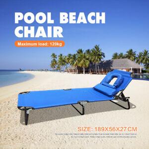 Image Is Loading Aluminium Folding Tanning Reclining Sun Bed Lounge Pool