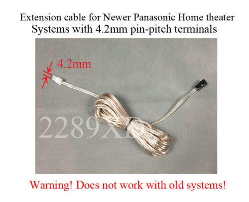 12ft speaker extension cable//wire//cord 4 Panasonic Home Theater;4.2mm-pitch;Read