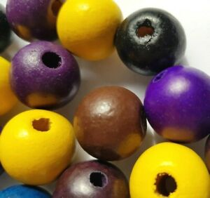 18-Large-Hole-Wood-Beads-for-Jewellery-Making-Round-Mixed-Colour-18-20-mm