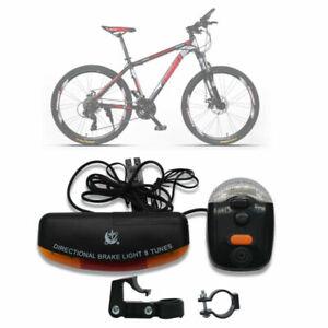 Bici-Luci-Luce-Del-Freno-Turn-Signal-Corno-7-LED-Di-Multifunzione-Indicatore