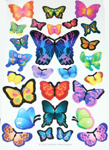 FREE SHIPPING OFFER Sandylion Stickers BUTTERFLIES #3 Stickers