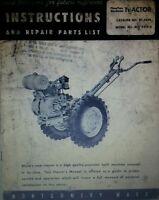 Montgomery Ward Mid-5458 Garden Tractor Owner, Engine, Service, Parts Manual 36p
