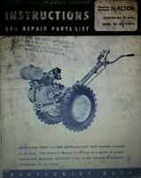 Montgomery Ward Mid-5458 Garden Tractor Owner, Engine, Service, Parts Manual 36p