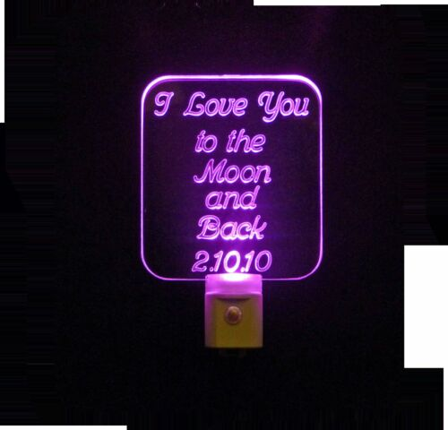 Pesonalized Gift Personalized I Love you to the Moon and Back LED Night Light