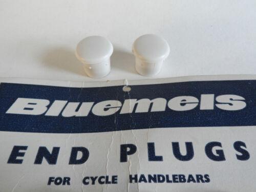 * White *NOS Vintage Bluemels 1960s//70s handlebar end plugs