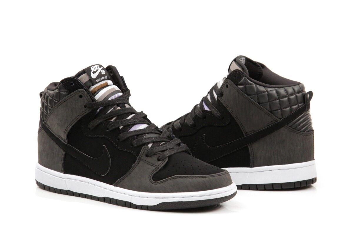 Nike sb schiacciare alto premio civilist quilted bianco nero janoski 313171-016 pennino.