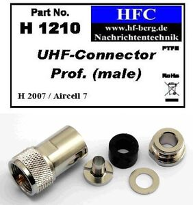 1-Stueck-UHF-Stecker-prof-fuer-H-2007-Aircell-7-Koaxkabel-50-H1210