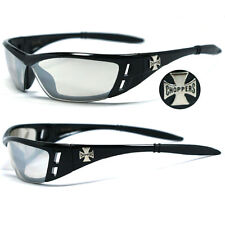 Choppers Motorcycle Day Night Driving Riding Glasses -  Clear Mirror C46