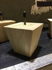 Unfinished Oak Wood Wooden Sofa Couch Furniture Bun Leg 4 Pack Legs Feet DIY