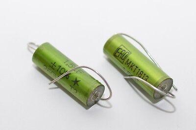 Audio Capacitor NOS 2x ERO MKT 1813 High-End Audio-Kondensator 10 µF // 250 V-