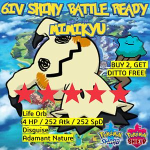 Mimikyu-6IV-brillante-Pokemon-espada-y-un-escudo-de-Batalla-Listo-japones-idem-Oferta