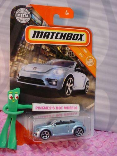 2020 Matchbox VOLKSWAGEN THE BEETLE CONVERTIBLE #2☆baby blue VW Bug☆CITY☆