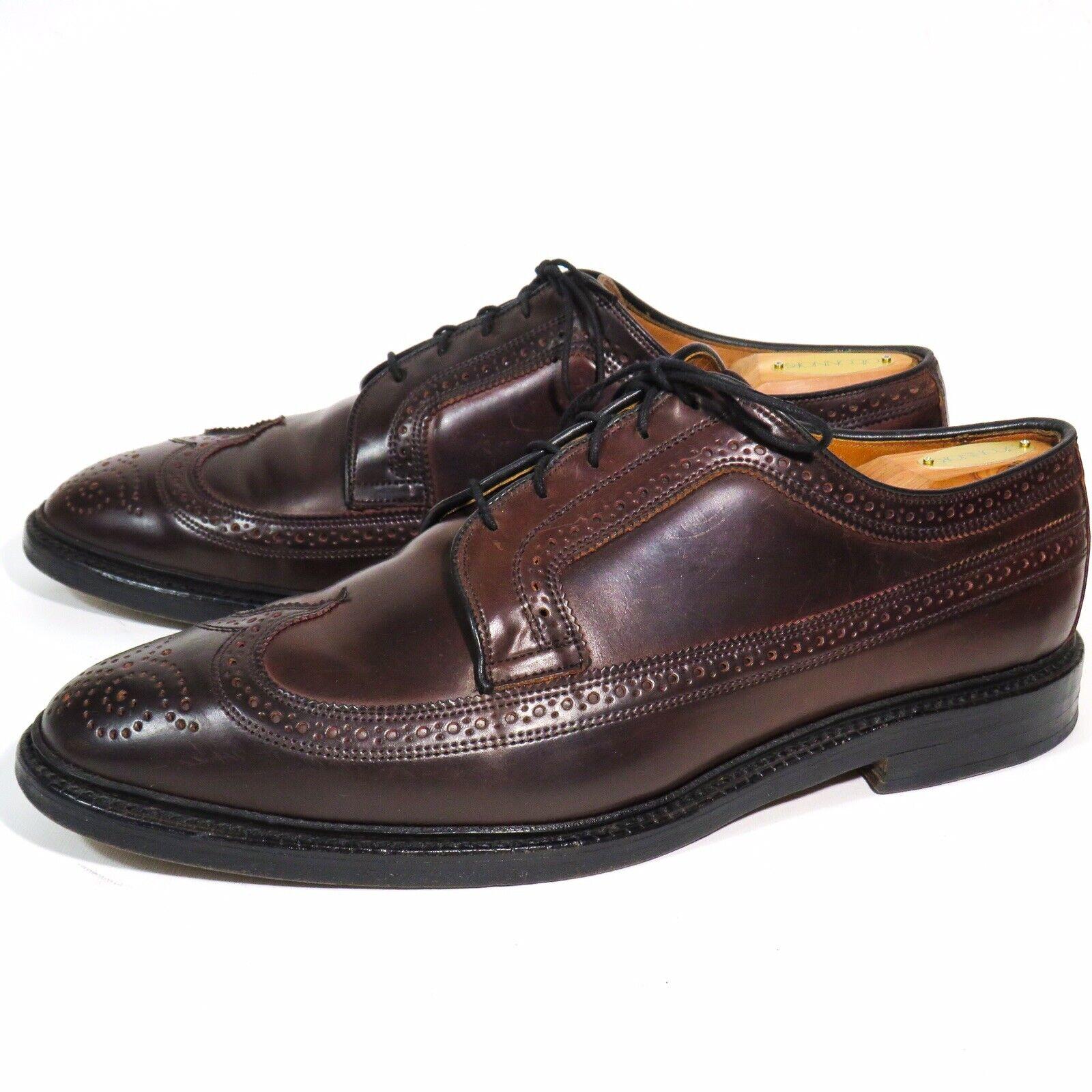 Allen Edmonds 9097 MacNeil Shell  Cordovan Borgogna Wingtip scarpe - US 11.5E USA  consegna lampo