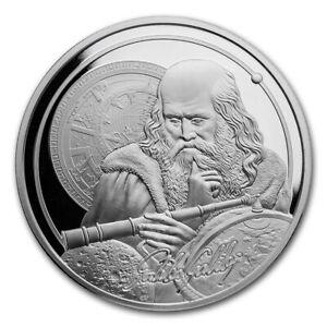 2021 Niue 1 oz Silver Icons of Inspiration - Galileo BU
