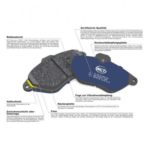 SCT Bremsbeläge SP 206 PR Bremsklötze Bremsbelagsatz vorne Ford