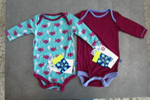 2 NEW Kickee Pants One Piece Long Sleeve Bodysuit 3-6 months Busy Beaver Melody