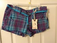 Unionbay Junior 11 Cotton Spandex Vintage Indigo Multi Color Print Shorts