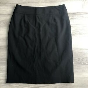 HOBBS-Womens-Black-Pencil-Skirt-Size-12-Fitted-Straight-Wool-Office-Work-Smart