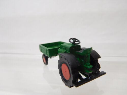 eso-299 1:87 Traktor mit Pritsche Metallguß sehr guter Zustand